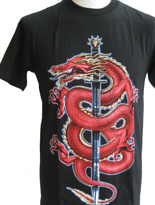 The Red Dragon T Shirt With Large Back Print